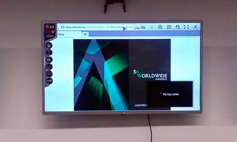 Configuración en pantallas