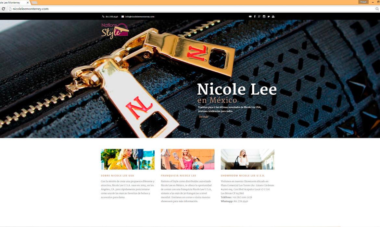 Pagina de inicio, Nicole Lee Monterrey